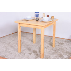 Table en bois du pin massif nature «Junco» 233B – Dimensions: 75 x 75 x 75 cm