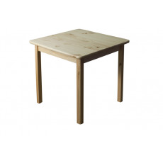 Table en bois de pin massif naturel 002 – Dimensions: 75 x 80 x 80 cm