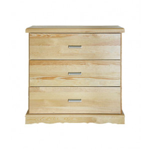 Commode en bois de pin massif naturel «Buteo» 10 – Dimensions: 78 x 80 x 40 cm