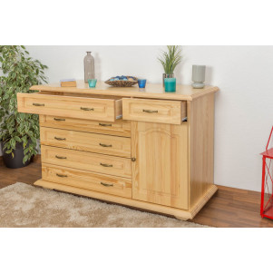 Commode en bois du pin massif nature «Pipilo» 12 – Dimensions: 88 x 139 x 54 cm
