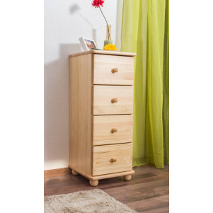 Commode en bois de pin massif, naturel Junco 146 - Dimensions 100 x 40 x 42 cm (h x l x p)