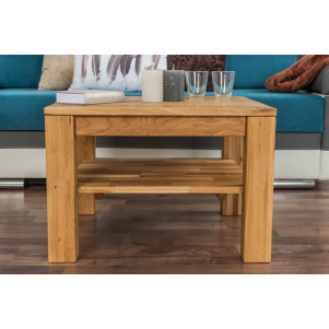 Table basse Wooden Nature 420 chêne massif - 65 x 65 x 45 cm (L x P x H)