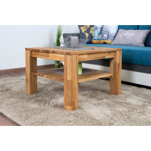 Table basse Wooden Nature 122 chêne massif - 45 x 65 x 65 cm (H x L x P)