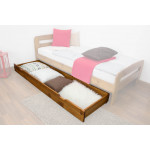 Drawer for bed- pine solid wood oak-coloured 003- Dimension  18,50 x 198 x 54 cm