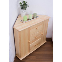 Commode bois de pin massif naturel 055– Dimensions: 78 x 90 x 80 cm (H x L x P)